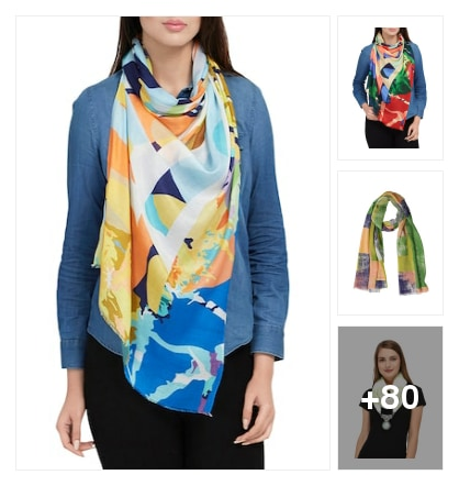Summer scarves for fun. Online shopping look by Pankh