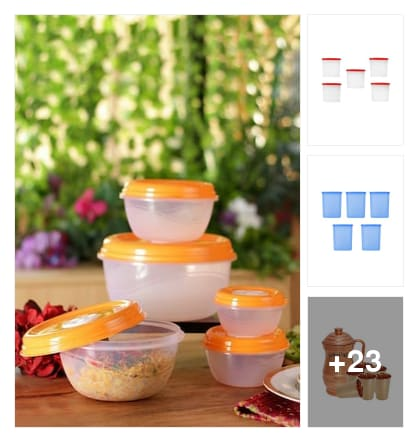 Kitchen storage . Online shopping look by keerthi