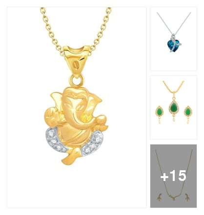 Pendants and sets. Online shopping look by keerthi