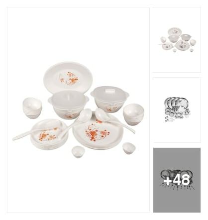 dinner set for your kitchen. Online shopping look by Sandhya