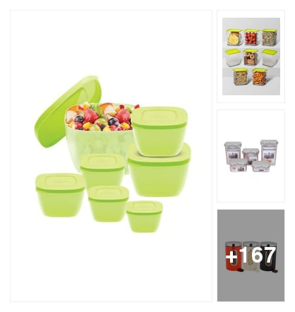 Kitchen storage Containers for food storage. Online shopping look by ashok