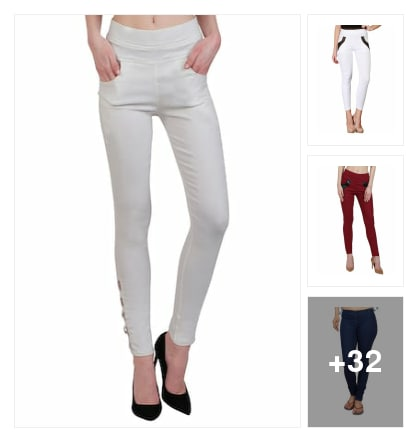 Jeggings in all solid colours. Online shopping look by SriLatha