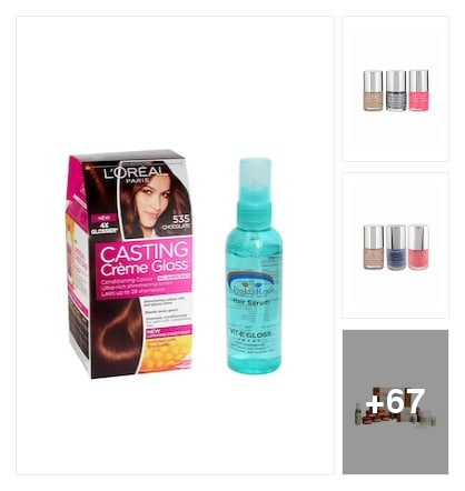 Beauty products. Online shopping look by sree sai
