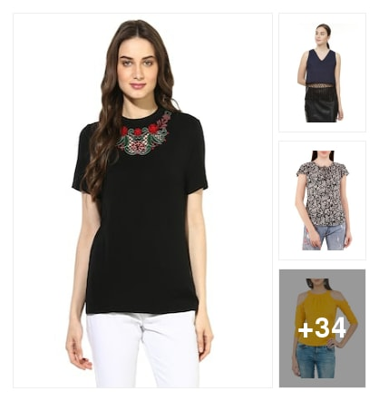 TOPS. Online shopping look by Guru