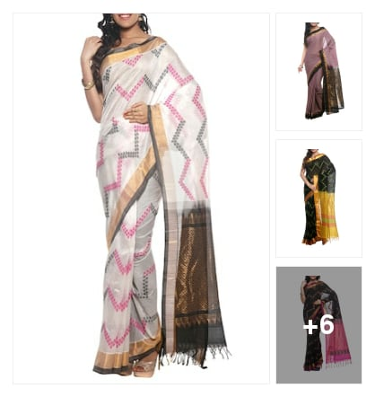 Silk zari work handloome sarees collection great grand looking . Online shopping look by vinod