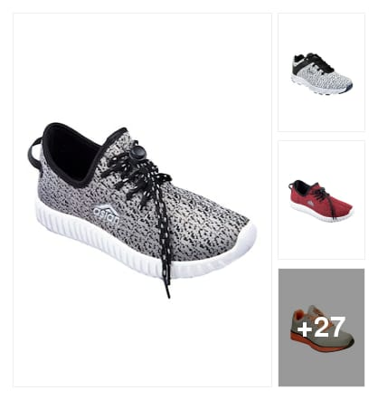 Sports shoes. Online shopping look by Ruchi