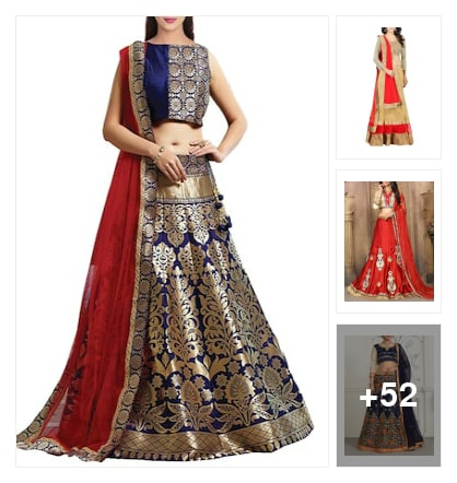 Lehengas. Online shopping look by Aaryan