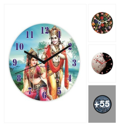beautiful wall clocks. Online shopping look by chandra