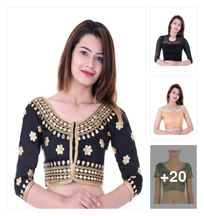 pretty blouses. Online shopping look by raghava