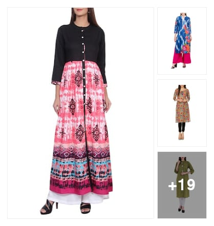 Kurtas and Kurtis. Online shopping look by keerthi