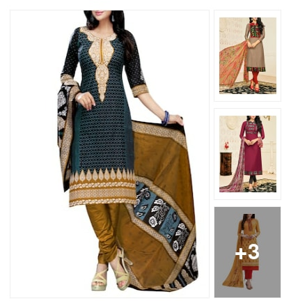 Dress materials. Online shopping look by keerthi