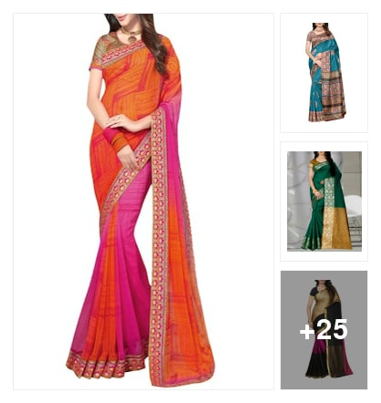 Sarees. Online shopping look by keerthi