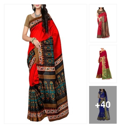 Recommended  bordered sarees. Online shopping look by thanmayee