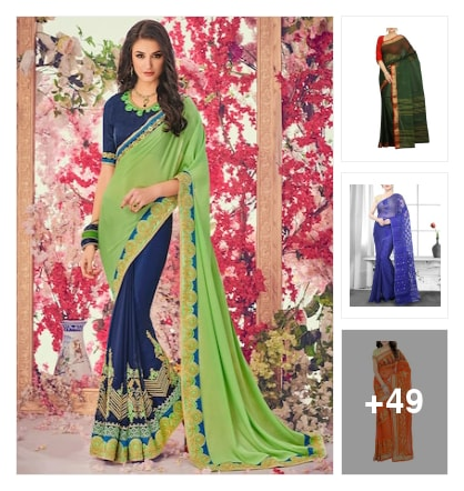 Best and latest sarees for Telugu ugadi(New year). Online shopping look by Vedika