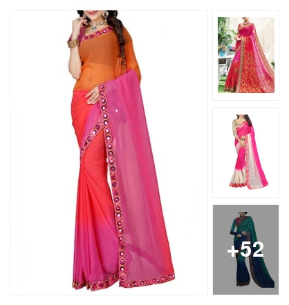 Party Wear ombre Sarees.... Online shopping look by M