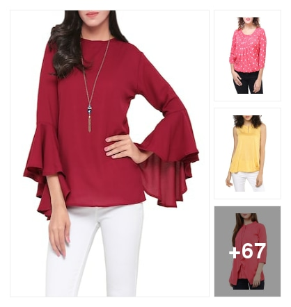 Trendy tops collection . Online shopping look by Ramaprasad