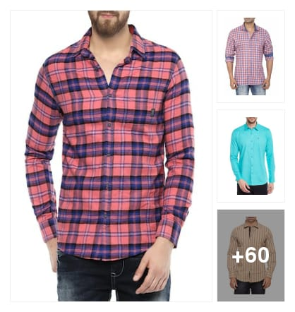 Comfortable  casual shirts. Online shopping look by vinod