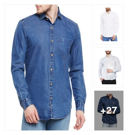 Suistainable  Cotton  Casual Shirts for Gents. Online shopping look by lumbu