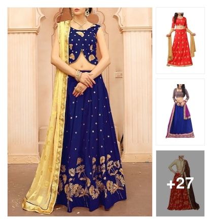 Creative  Lehengas  for Functions. Online shopping look by lumbu