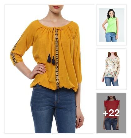 Beautiful tops for girls. Online shopping look by SHYAMALA