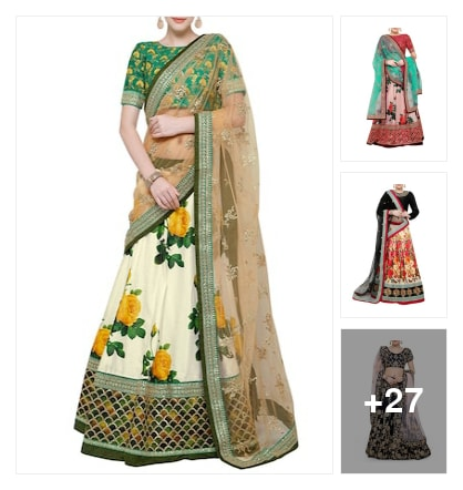 Exemplary  Flared  Lehengas. Online shopping look by lumbu