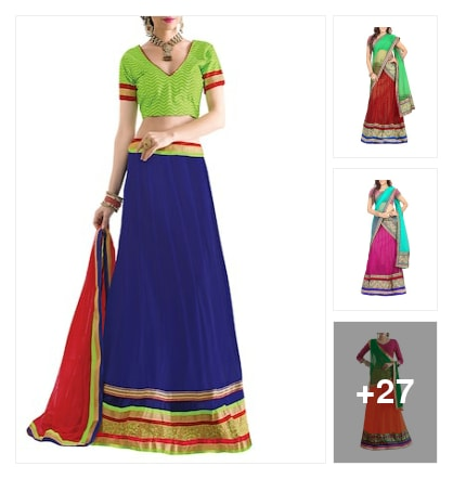 Beautiful    Panelled  Lehengas. Online shopping look by lumbu