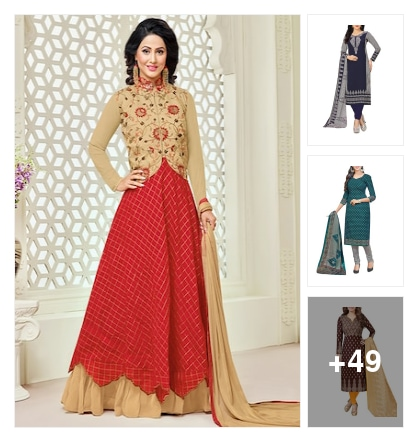 Wow lookingsuit dress material. Online shopping look by sunitha