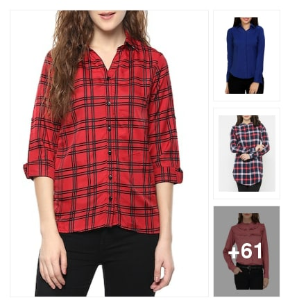 Stylish shirts for ladies. Online shopping look by sunitha