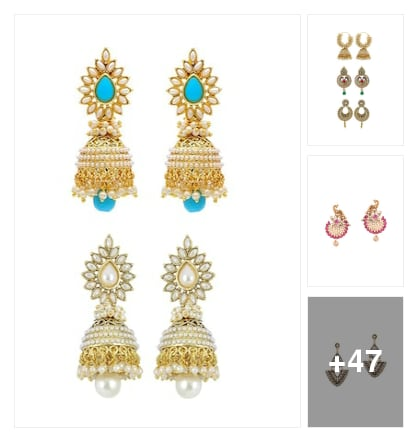 machingearrings. Online shopping look by sujatha