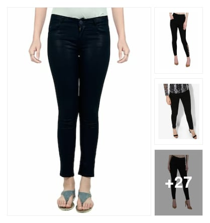 Cute Dark Blue Denim Jeans  for  Girls. Online shopping look by Lakshmi