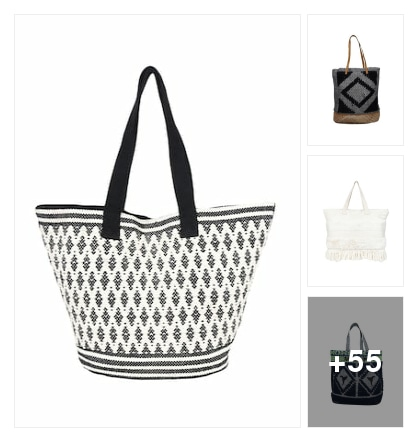 Regular tote cotton shopping and earrings collection . Online shopping look by kalpana