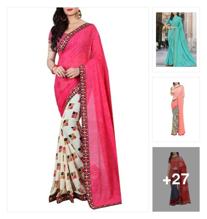 Wardrobe essential :- Saree checkout. Online shopping look by Kinki