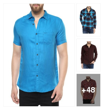 My favourite  choice 👉mufti Brand 🙇shirts. Online shopping look by Shona
