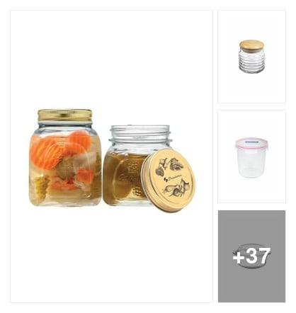 Glass kitchen containers. Online shopping look by sreekanth