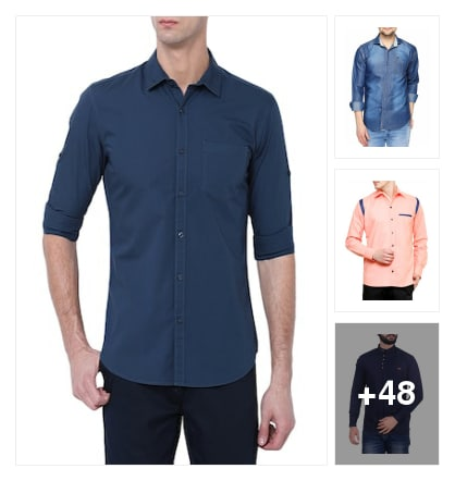 Solid shirts for collection . Online shopping look by suresh