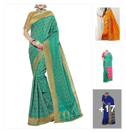 Creative  New & exclusive  Sarees. Online shopping look by buddy