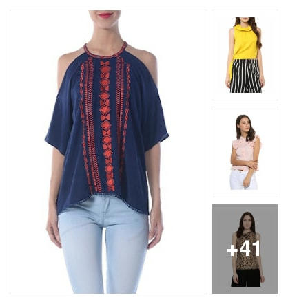 My dream collection of tops. Online shopping look by Priya Choudhary