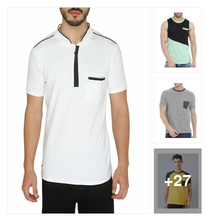 Curious  Pocket  T-Shirts  for  Gents. Online shopping look by arundhathi