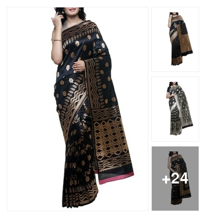 Black beauty :: saree recommended. Online shopping look by kavita