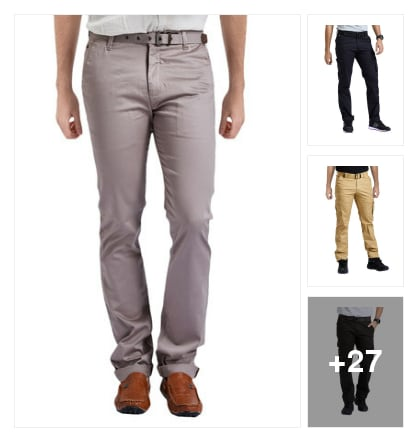 Amazing  Casual  Trousers  for  Gents. Online shopping look by ANU