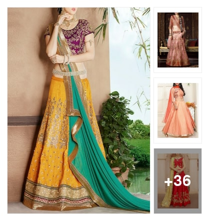 👗👗Lehengas👗👗. Online shopping look by minnu