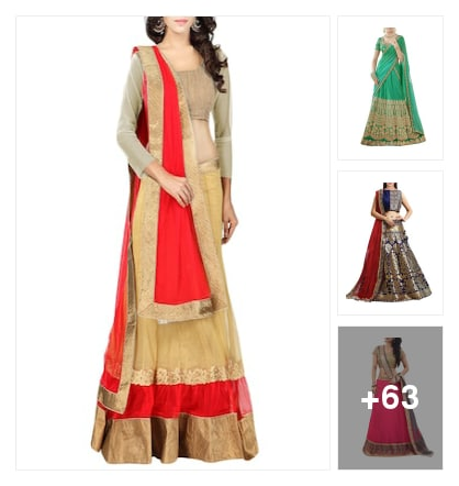 Elegance with Lehengas . Online shopping look by sree