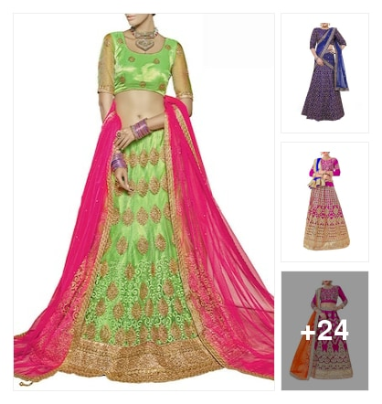 Lehengas. Online shopping look by keerthi