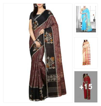 Handloom sarees. Online shopping look by keerthik837