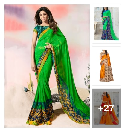 Lively  Sarees  for  Functions. Online shopping look by Reethu