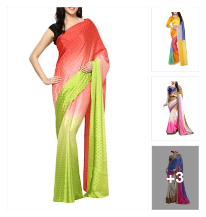 "Trend Of  Ombre Saree . Online shopping look by Trends update by ""Sheetal Thakur"""