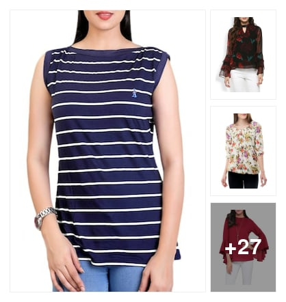Trendy tops. Online shopping look by KESHAVA