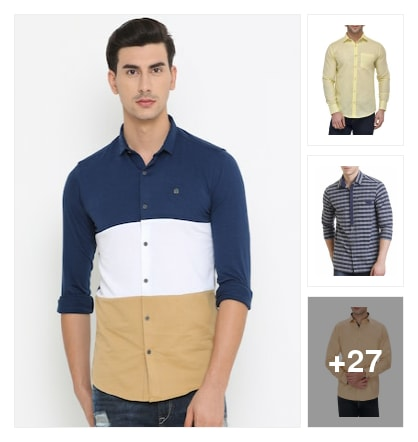 Mens wear shirts. Online shopping look by meenu