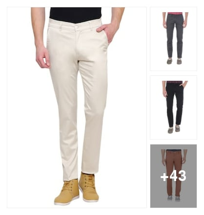 Mens wear casual trousers. Online shopping look by meenu