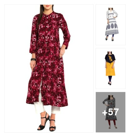 A-line kurtas collection. Online shopping look by nikku.gupta512